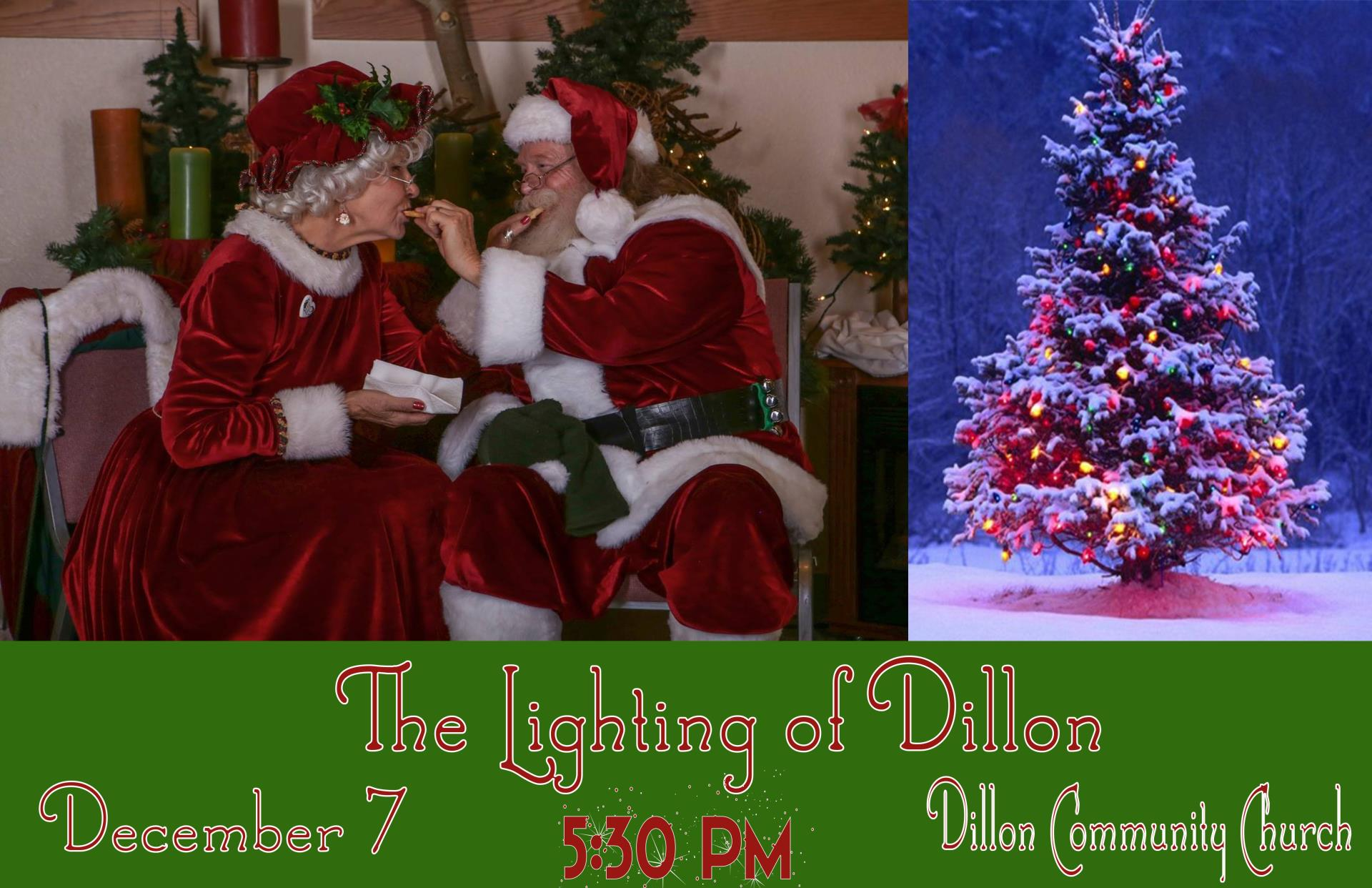 Join us December 7th at 5:30PM at the Dillon Community Church for an evening of good cheer as our community comes together to celebrate the kickoff to the ...